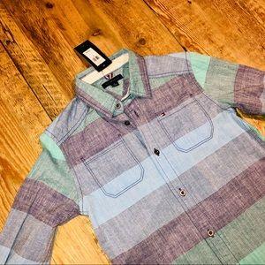 Tommy Hilfiger long-sleeve color block shirt